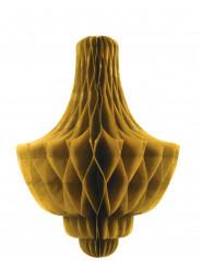 Décoration alvéolée à suspendre chandelier doré
