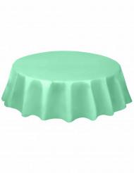 Nappe en plastique ronde menthe 213 cm