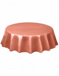 Nappe en plastique ronde corail 213cm