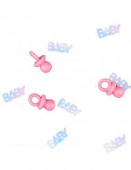 Confettis tétine baby rose 14g