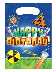 8 Sacs anniversaire scientifique 16 x 23 cm