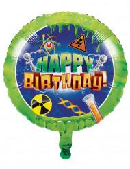 Ballon aluminium Happy Birthday Scientifique 45 cm