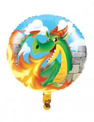 Ballon alluminium dragon 43cm