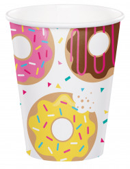 8 Gobelets en carton Donuts 266 ml