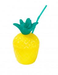 Verre Ananas avec paille