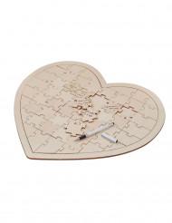 Livre d'or puzzle en bois souvenir