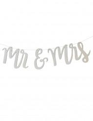 Décoration Mr & Mrs bois 1 m