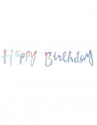 Guirlande Happy Birthday Iridescent 1,5 m