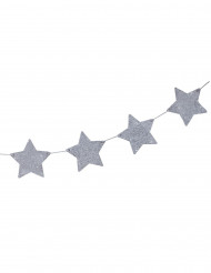 Guirlande étoiles argentées 1.2 mètres