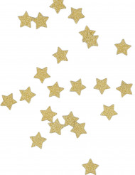 Confettis de table étoiles dorées 14g