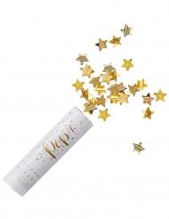 Canon à confettis étoiles or