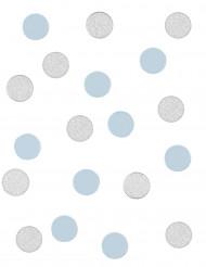 Confettis bleu et argenté 14 g