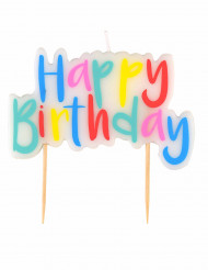 Bougie colorée Happy Birthday