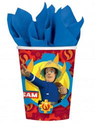 8 Gobelets en carton Sam le Pompier™ 250 ml
