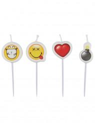 4 mini bougies Smiley Emoticons ™