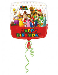 Ballon aluminium Happy Birthday Mario Bros™ 43 cm