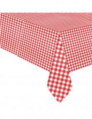 Nappe en plastique Vichy rouge 1,37 x 2,59 m