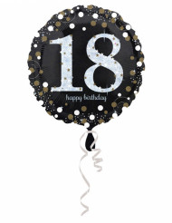 Ballon aluminium Happy Birthday 18 ans 45 cm