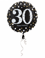 Ballon Aluminium Happy Birthday scintillant 30 - 45 cm