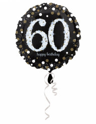 Ballon Aluminium Happy Birthday scintillant 60 - 45 cm