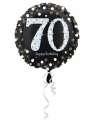 Ballon Aluminium Happy Birthday scintillant 70 - 45 cm