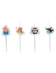 4 Mini bougies Pirate