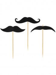 20 Pics Moustache 7 cm