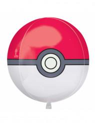Ballon aluminium Pokéball Pokémon ™ 38 x 40 cm