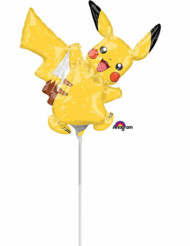 Petit ballon aluminium Pikachu Pokémon™ gonflé 30 x 30 cm