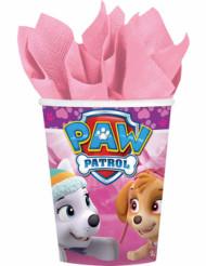 8 Gobelets en carton rose Pat'Patrouille™ 266 ml