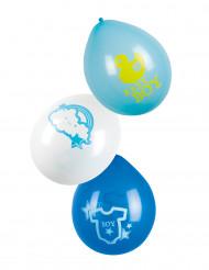 6 Ballons Nuage bleu 25 cm