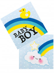12 Serviettes en papier Baby boy 33 X 33 cm