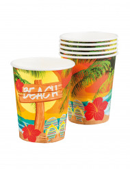6 Gobelets en carton Beach party 25 cl