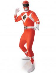Déguisement seconde peau Power Rangers™ Rouge homme