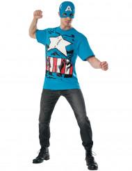 Déguisement et masque Captain America™ Avengers adulte