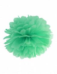 Pompon à suspendre en papier menthe 25 cm