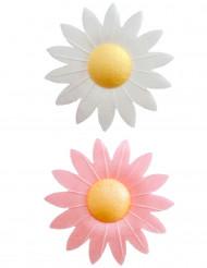 8 Décorations pour gâteau fleurs azyme