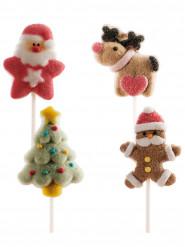 4 Brochettes de marshmallow Noel
