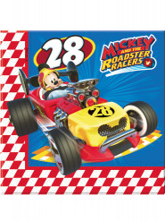 20 Serviettes en papier 33x33cm Mickey Racing ™