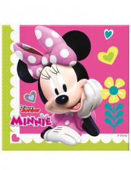 20 Serviettes en papier Minnie Happy™ 33 x 33 cm