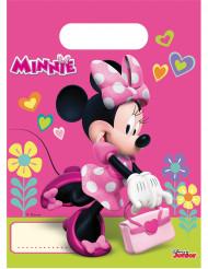 6 Sacs cadeaux Minnie Happy™ 23 x 16 cm