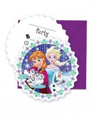 6 Cartes d'invitation avec enveloppes La Reine des Neiges™