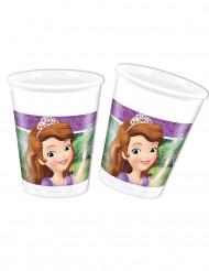 8 Gobelets en plastique Princesse Sofia et la licorne™ 20 cl