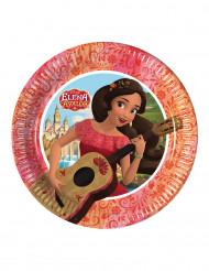 8 Petites assiettes en carton Elena d'Avalor™ 20 cm