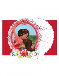 6 Cartes d'invitation avec enveloppes Elena d'Avalor™