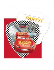 6 Cartes d'invitation avec enveloppes Cars 3™