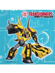 20 Serviettes en papier Transformers RID™ 33 x 33 cm