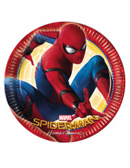 8 Assiettes en carton Spiderman Homecoming™ 23 cm