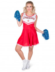 Déguisement pompom girl rouge CHEERS femme