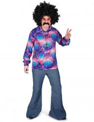 Chemise disco psychédélique homme